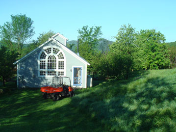 Summer Cottage with the Kubota in front