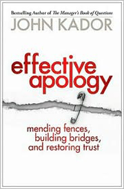 Buy the book, Effective Apology