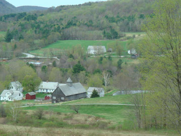 The Farm in Spring from the hill