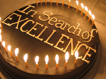 In Search of Excellence birthday cake