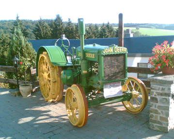 Old-fashioned John Deere tractor