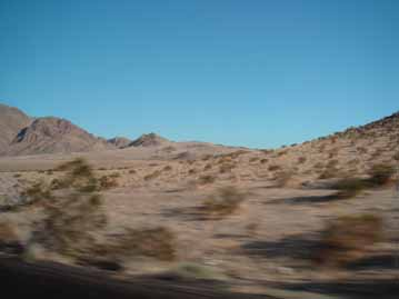 desert view between LA and Las Vegas