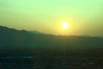 Sunrise in the desert outside Las Vegas