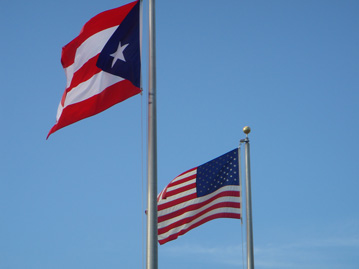 Two Flags, Puerto Rico and United States