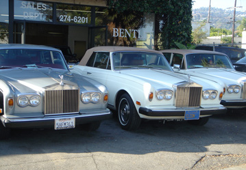 Rolls Royces and Bentleys in a Row