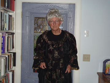 Tom dressed as Elizabeth Cady Stanton