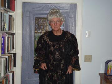 Tom dressed as Elizabeth Cady Stanton