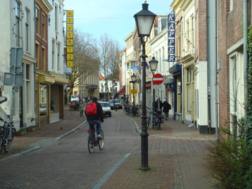 Utrecht street with bicyclists