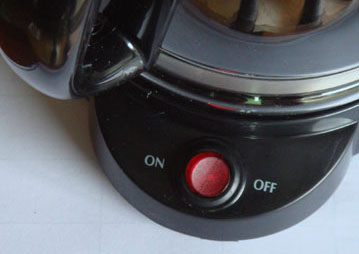 Coffeemaker on-off button