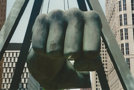 Sculpture of Joe Lewis Fist, Detroit